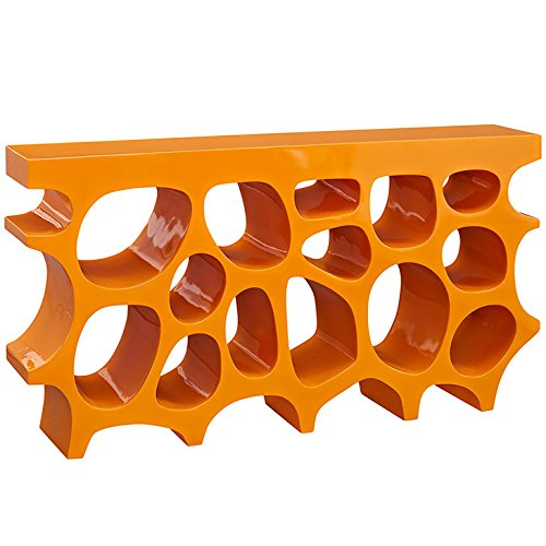Modway Wander Medium Stand In Orange - Modern Console Table For Entryway - Magazine Or Book Stand Display (Console Orange)