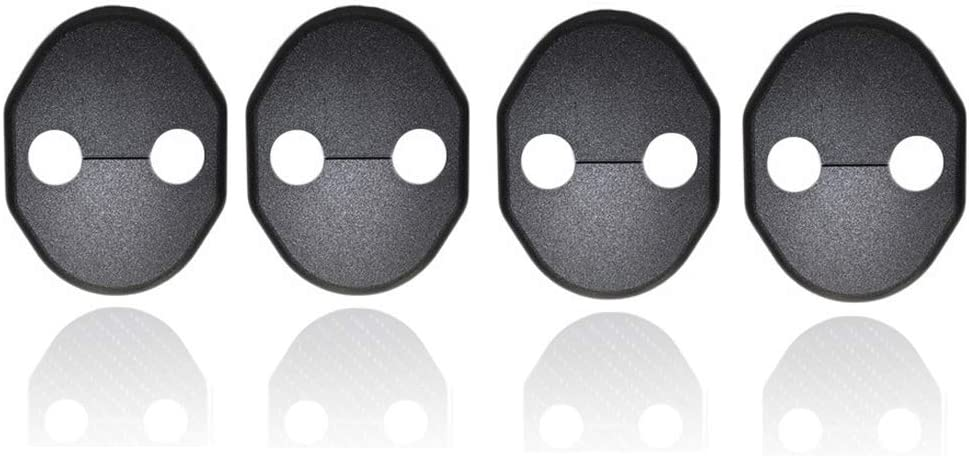 4pcs Car Door Striker Cover Lock Protector Case for Mitsubishi RVR ASX Pajero V93W Outlander CW5 CV6 GF7 GF8 Color Black