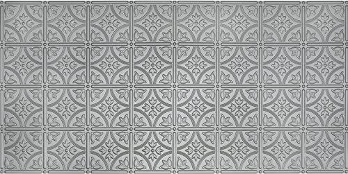 Global Specialty Products Pattern No.209 Tin Style Panel, 2 by 4-Feet, Nickel by Global Specialty Products