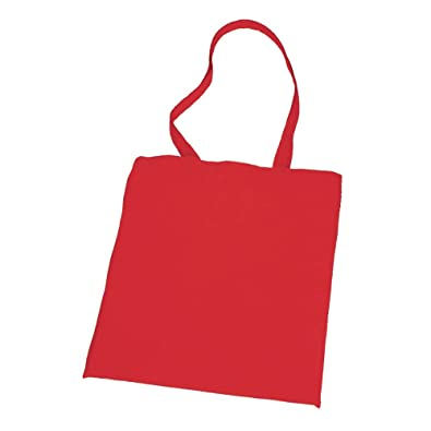 04e641ff2 10 NATURAL COTTON TOTE BAGS SHOPPERS RED: Amazon.co.uk: Shoes & Bags