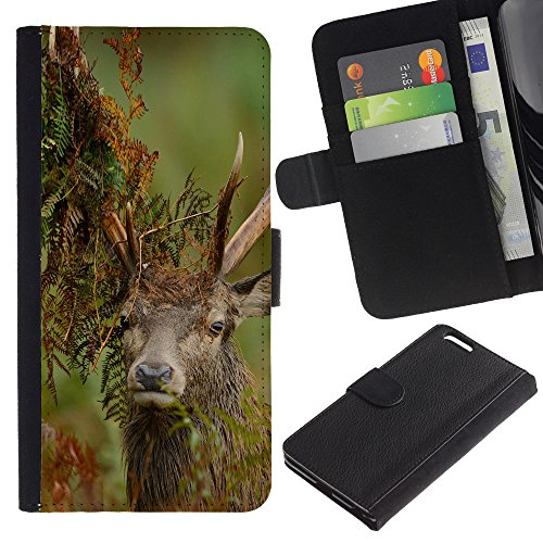EuroCase - Apple Iphone 6 PLUS 5.5 - Funny Majestic Stag - Cuir PU Coverture Shell Armure Coque Coq Cas Etui Housse Case Cover