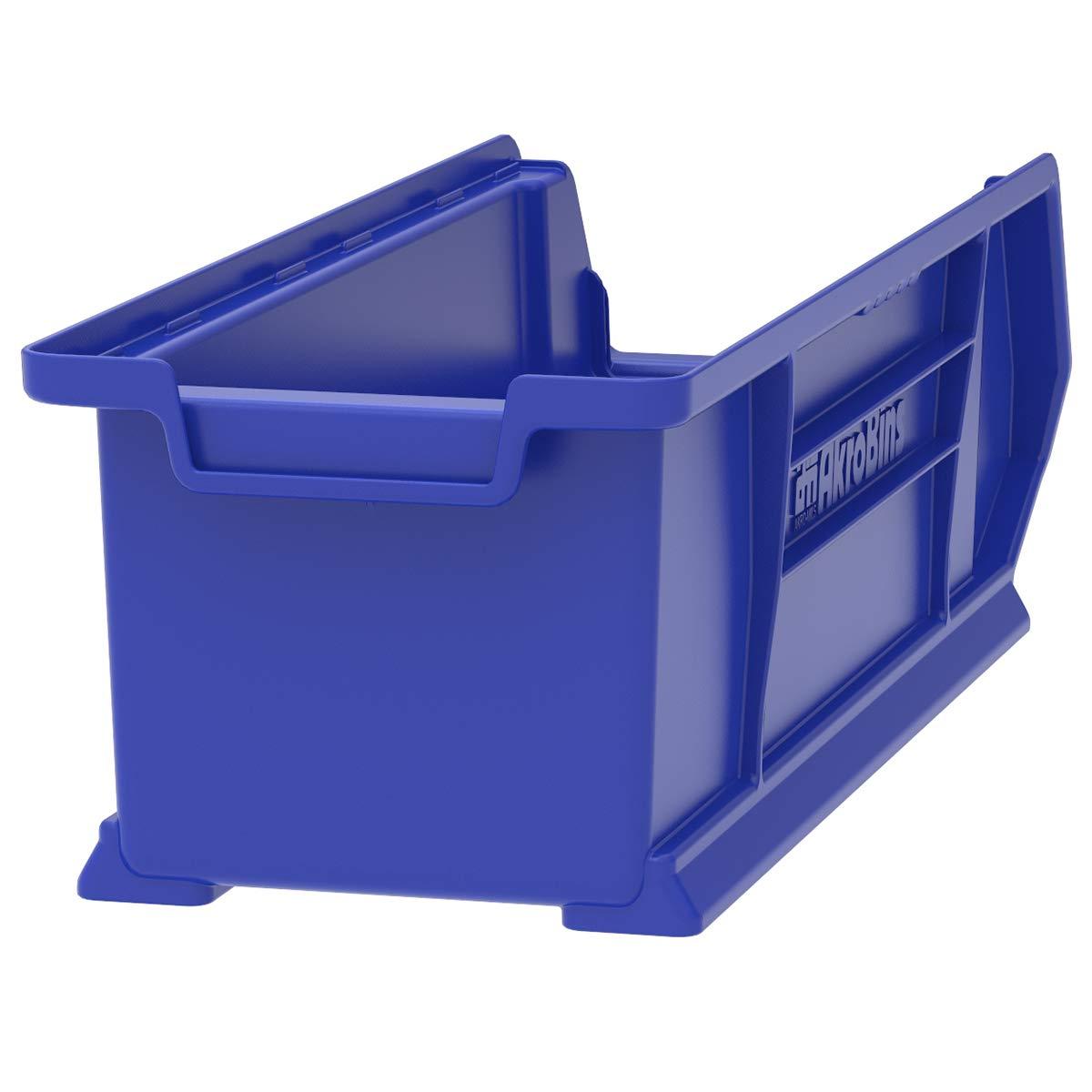 Akro-Mils 30284 Super Size Plastic Stacking Storage Akro Bin, 24-Inch Diameter by 8-Inch Width by 7-Inch Height, Blue, Case of 4 by Akro-Mils (Image #2)