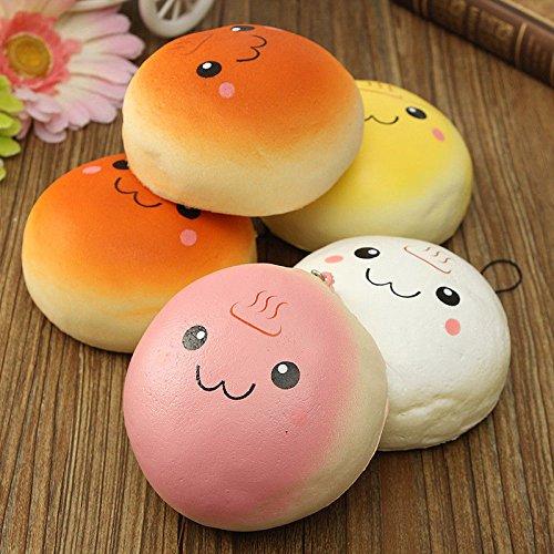 Northbear Cute Jumbo 10cm Smile Marshmallow Bun Squishy Phone Charm Pendants (Marshmallow Squishy Bun)