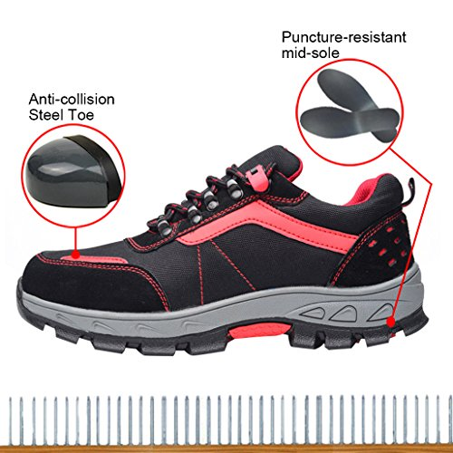 Scarpe Di Sicurezza Delle Donne Ottimali Scarpe Da Lavoro Scarpe In Acciaio Nere A