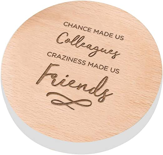 Wooden Friend Chance made us Colleagues Fun Quote Plaque Birthday//Leaving Gift