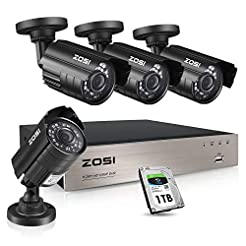 ZOSI 1080P Security Camera System with 1...