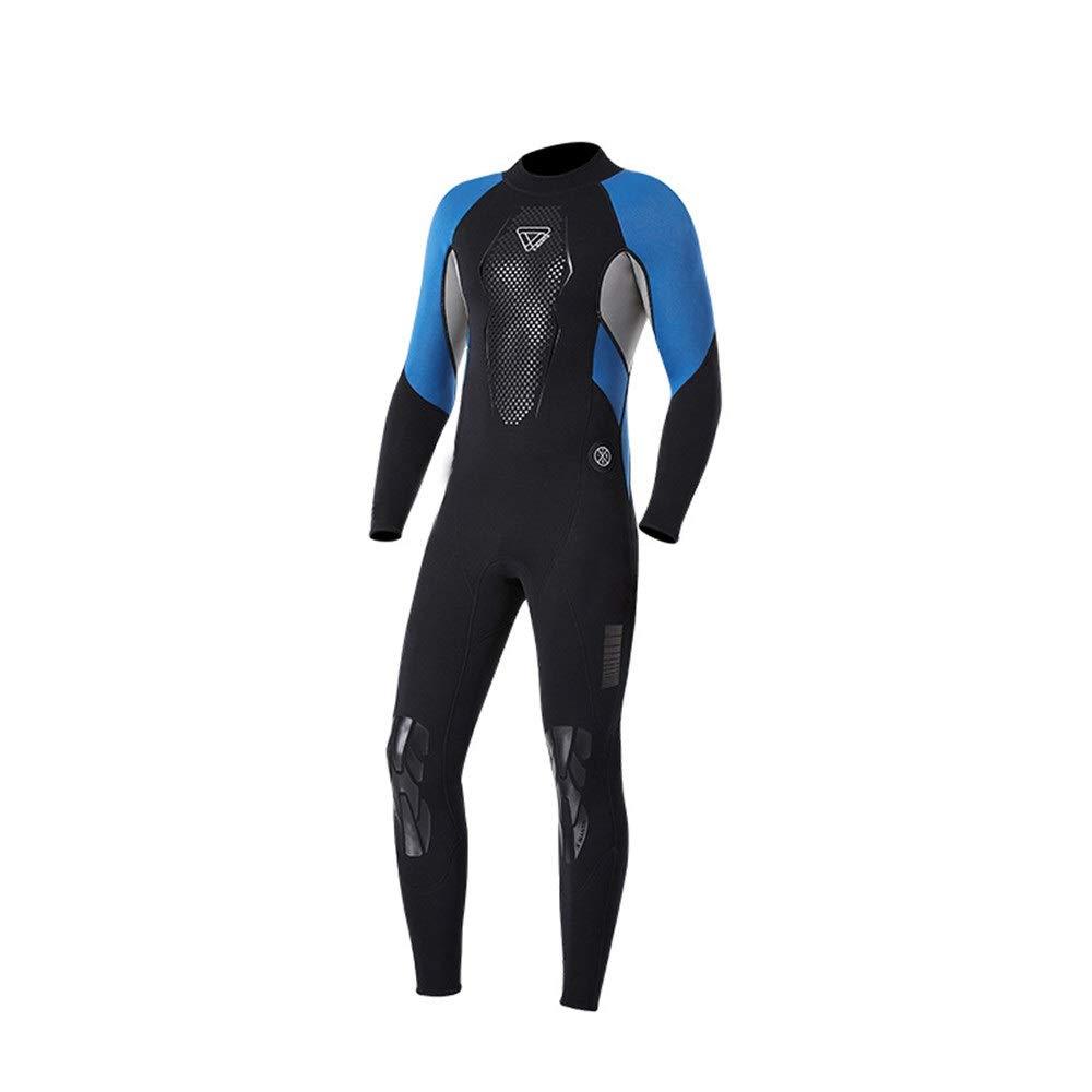 Yzibei Männer voller Taucheranzug Langarm Neoprenanzüge Uv-Schutz Neopren 3mm Ganzkörper-Tauchanzug für Männer Geeignet zum Surfen (Farbe   Blau, Größe   XXL) B07QCMZS3H Neoprenanzüge Langfristiger Ruf
