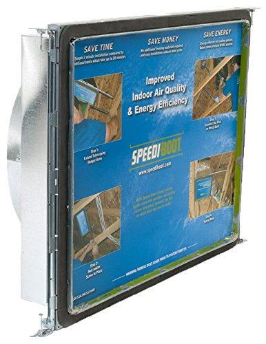 Speedi-Boot SBH-161614 SRA 16-Inch Width by 16-Inch Length to 14-Inch Diameter Square-to-Round Register Vent Boot with Adjustable Hangers Applied Applications International
