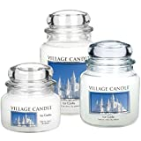 Village Candle Ice Castle 26 oz Glass Jar Scented Candle, Large