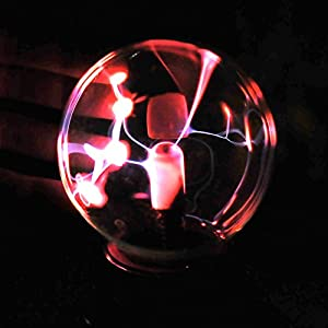 CozyCabin Plasma Ball Light, Thunder Lightning Plug-In Touch Sensitive – USB or Battery Powered For Parties, Decorations, Kids, Bedroom, Home, 3 Inch