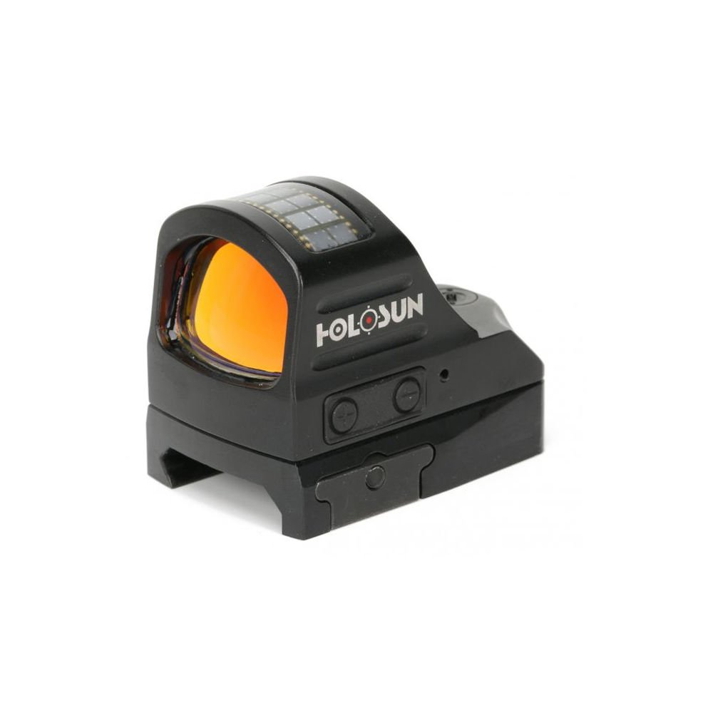 Holosun HS507C Reflex Sight 1x Selectable Reticle Weaver-Style Mount Solar/Battery Powered Black by HOLOSUN