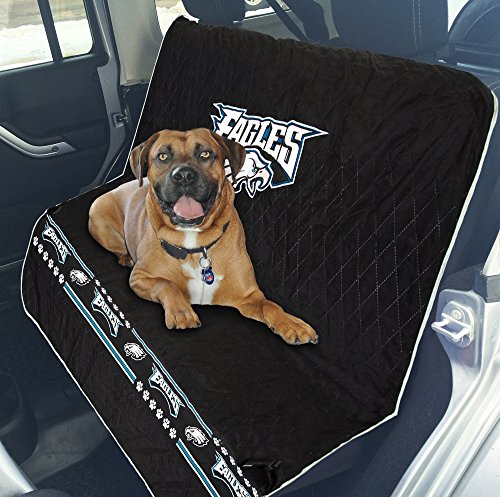 Pets First NFL CAR SEAT Cover - Philadelphia Eagles Waterproof, Non-Slip Best Football Licensed PET SEAT Cover for Dogs & Cats. (Eagles Truck Seat Covers)