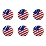 Amosfun - Raqueta de Tenis con vibración (6 Unidades, Silicona), diseño de Bandera Estadounidense