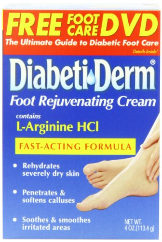 DiabetiDerm Foot Rejuvenating Cream, 4-Ounce Jars (Pack of 2