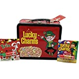 DORLIONA Lucky Charms and Trix 2 Sided Tin Luncbox and Lucky Charms and Trix Lip Balm Bundle