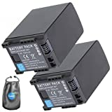 ValuePack (2 Count): Digital Replacement Camera and Camcorder Battery for Canon BP-827, VIXIA HF 11 - Includes Lens Pouch