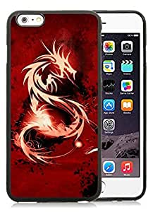 Dragon black for iPhone 6 Plus 5.5 Inch TPU Phone Case