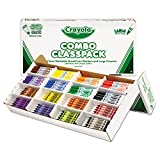 Crayola 523348 Classpack Crayons w/Markers, 8 Colors, 128 Each Crayons/Markers, 256/Box