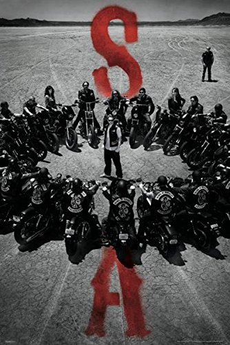 Sons Of Anarchy   Tv Show Poster  Motorcycle Circle   Size  24  X 36