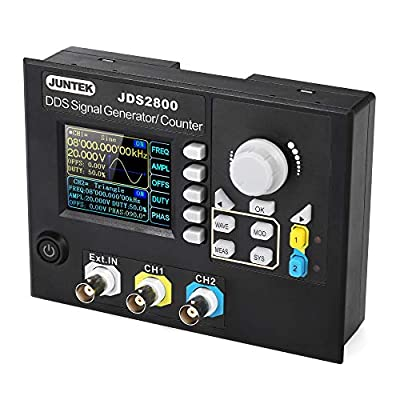 Signal Generator, JUNTEK Signal Generator Digital Control Dual-channel DDS Function Arbitrary Signal Generator Frequency Meter 15MHz 266MSa/s