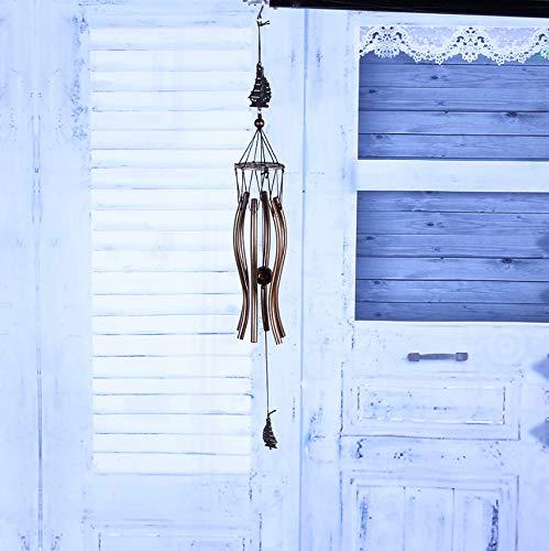 Nouveau Carillons De Vent en M/étal Profonde De R/ésonance 6 Tube Carillons Eglise Cloche Carillons De Porte Porte Tenture D/écoration de La Maison B
