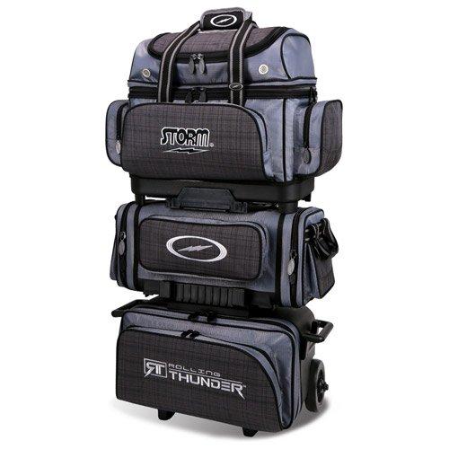 Storm 6 Ball Rolling Thunder Bowling Bag, Plaid/Gray/Black