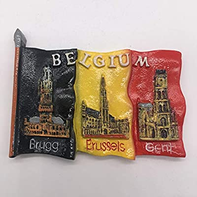 Weekinglo Souvenir Imán de la Nevera Bruselas Brujas Bandera de ...