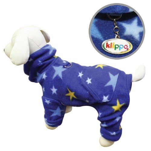 Cozy Midnight Stars Fleece Turtleneck Dog Pajamas / Bodysuit Size: Medium, My Pet Supplies