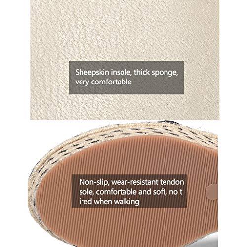Tacones Mujer Vacaciones Zapatos Pink Con 6 Planos Cuña Cómodos De Alto Meng Moda Cm Sandalias Oveja Piel Shop Para Altos Wei Zapatillas xwIIqWXFCg