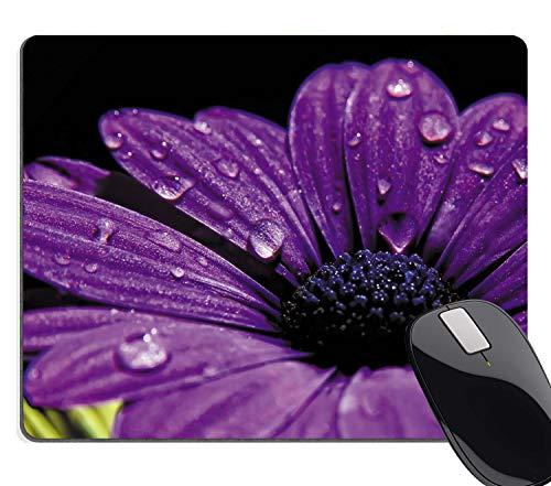 Hscban Purple Daisy Flower Floral Mouse Pad