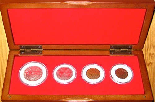 Germany 1939 Collection Germany - German World War II Coin Set in Cherry Wood Display Box Extremely Fine Details