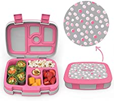 Bentgo Kids Prints - Leak-Proof, 5-Compartment Bento-Style Kids Lunch Box - Ideal Portion Sizes for Ages 3 to 7 -...