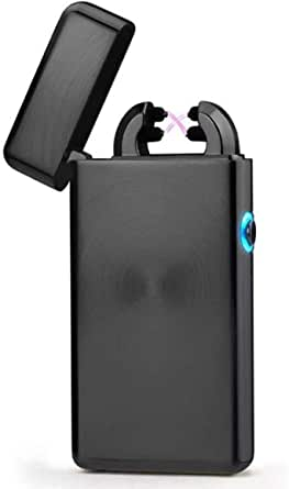 Electric Lighter, Epress Dual Arc Flameless and Windproof USB Rechargeable Lighter perfect for Cigarettes,