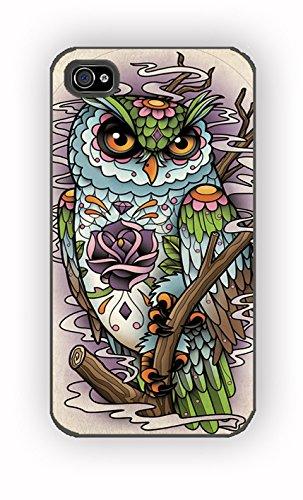 sugar skull owl for iPhone 4/4S Case