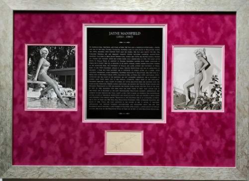 Vintage Hand Signed (Framed JAYNE MANSFIELD Autographed Vintage Hand SIGNED Album Page 1960's Vintage 8x10 Photos PSA/DNA LOA Vintage Hollywood BOMBSHELL SEX SYMBOL)