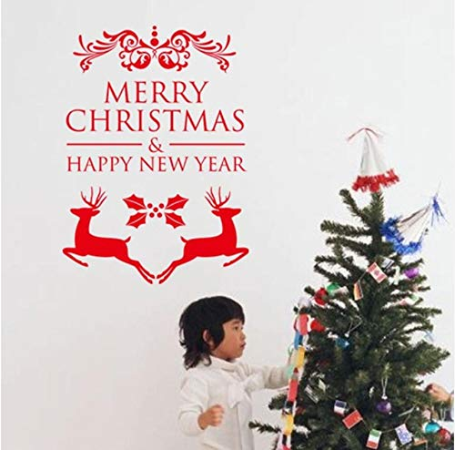 LSFHB Diamond Embroidery 3D Merry Christmas Happy New Year Reindeer Wall Stickers Christian Room Home Decor Vinyl Posters 30X42Cm ()