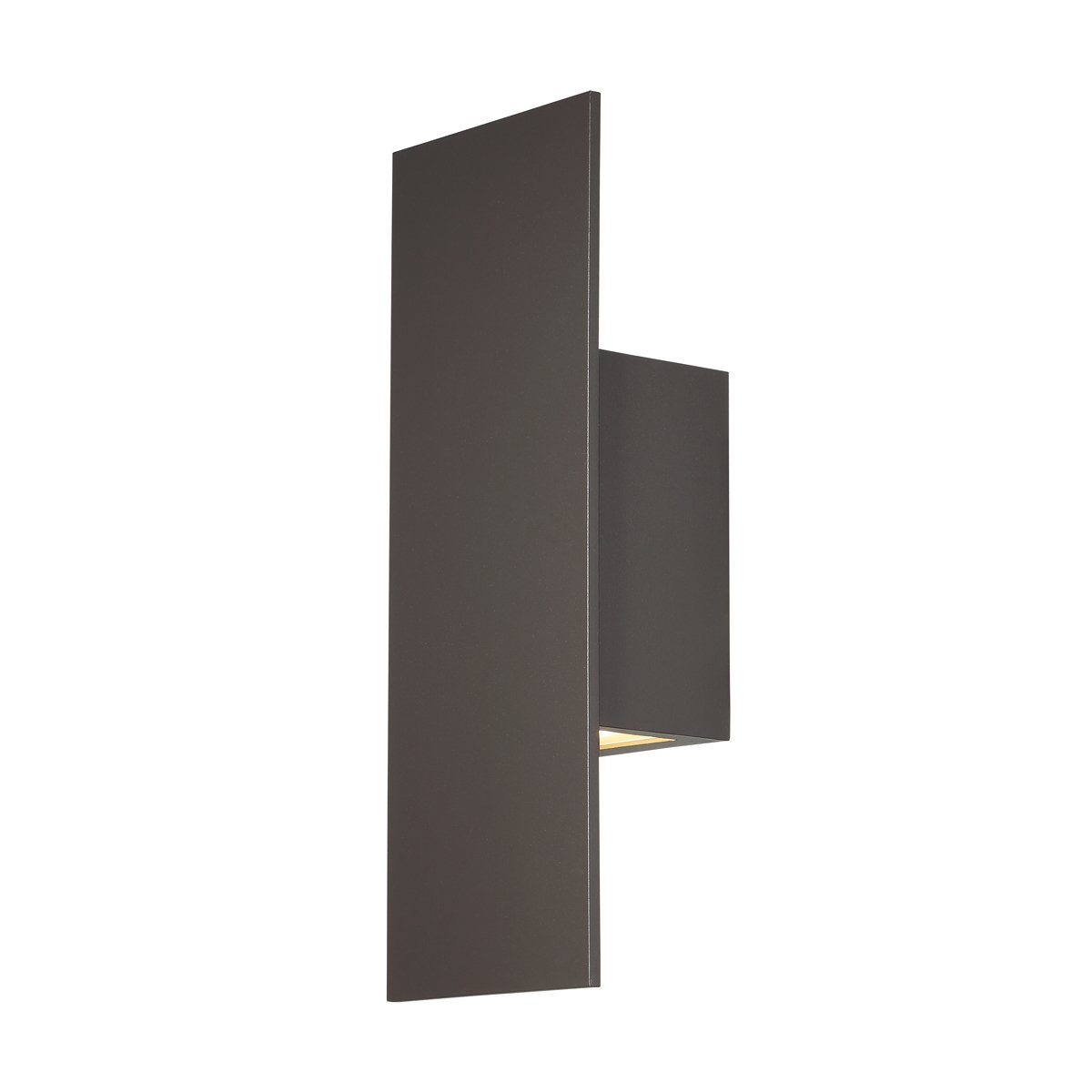 WAC Lighting WS-W54614-BZ Icon LED Outdoor Wall Light, 14 Inches, Bronze