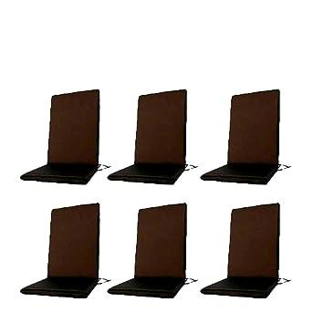 Edenjardi Pack 6 Cojines textilene para sillas de Exterior ...