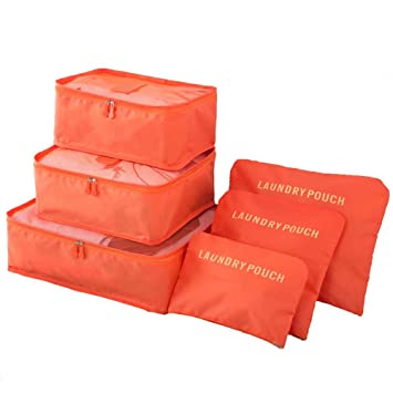 2c38a19db280 Godagoda 6PCS Set Foldable Travel Luggage Organization Storage Set ...