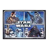 Gertmenian Star Wars Rug HD ep 7 Chewbacca, R2D2, Captain Phasma, Kylo Ren Bedding Wall Decals Blue Area Rugs , 40''x56''