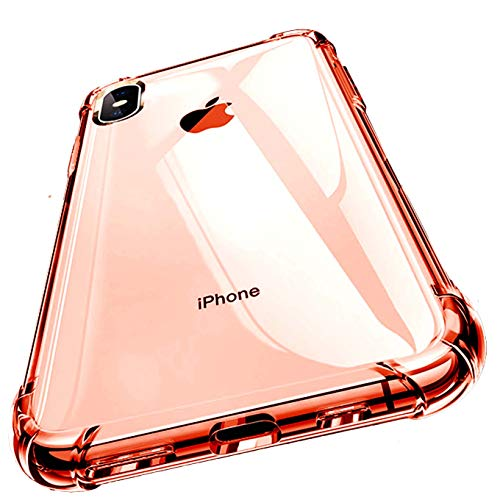 iPhone XR Case, Clear Protective Heavy Duty Case with Soft TPU Bumper [Slim Thin] Case for iPhone XR 6.1 Inch (2018)-Rose Gold Clear