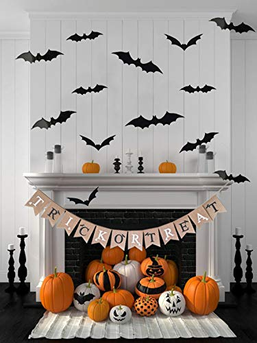 Halloween Decoration Trick OR Treat Burlap Banner, with