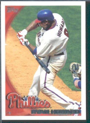2010 Topps Baseball Card # 590 Ryan Howard - Philadelphia Phillies - MLB Trading Card ()