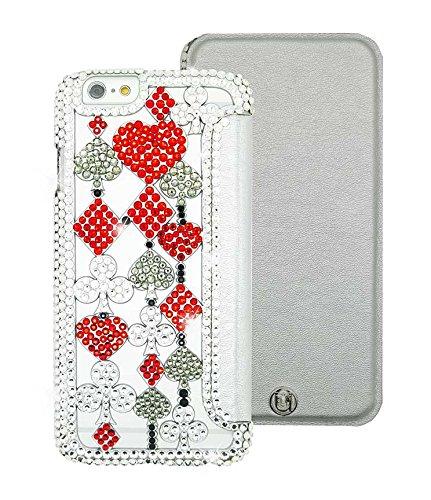Uunique Elite Reveal Königin der Herzen Folio Hard Shell Case für iPhone 6/6S