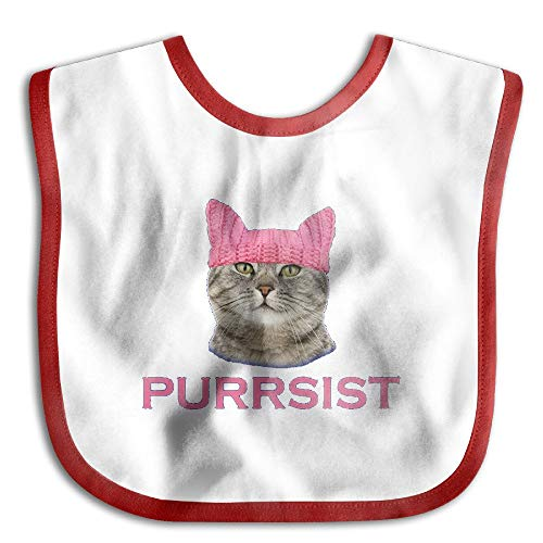 Persist Pussy Cat Newborn Baby Boys Girls Towel Bib Skin-Friendly Saliva Towel Bibs (Bib Friendly)