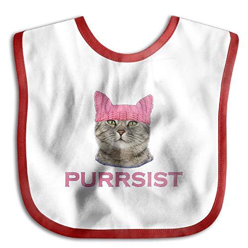Persist Pussy Cat Newborn Baby Boys Girls Towel Bib Skin-Friendly Saliva Towel Bibs