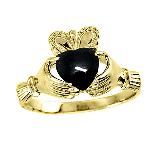 Claddagh Ring Claddah Love, Loyalty & Friendship Ring 14K Yellow Gold or 14K White Gold by Rylos (Image #3)