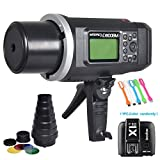 Godox AD600BM Bowens Mount 600Ws GN87 1/8000 High Speed Sync Outdoor Flash Strobe Light Monolight with Godox X1T-N Wireless Trigger Transmitter+Snoot &Honeycomb Grid and Color Gels for Nikon Cameras