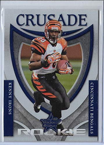 2007 Leaf Rookies & Stars Football Kenny Irons Crusade Blue Rookie # 185/500 ()