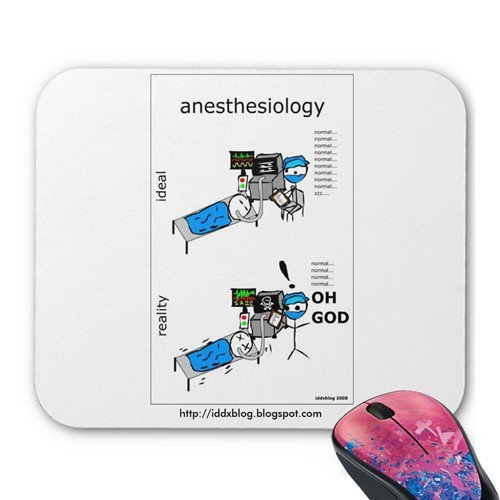 Anesthesiology Comic Personalized Rectangle Mouse Pad Oblong Gaming Mousepad Office Accessory And Gi